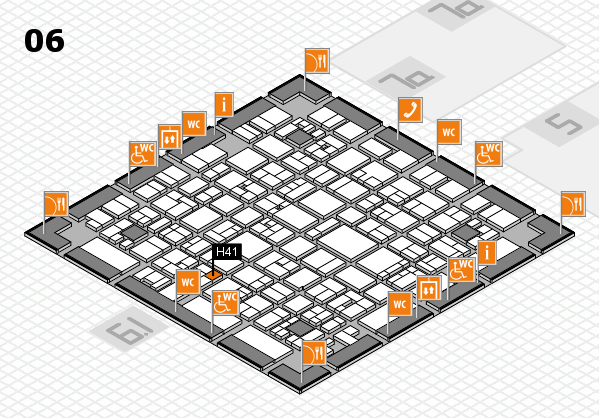 EuroShop 2017 hall map (Hall 6): stand H41