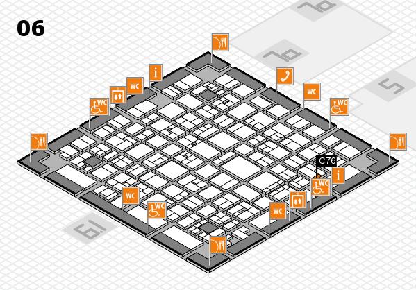 EuroShop 2017 hall map (Hall 6): stand C76