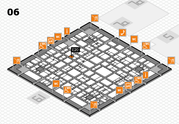 EuroShop 2017 hall map (Hall 6): stand E20
