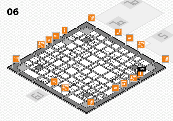 EuroShop 2017 hall map (Hall 6): stand C80