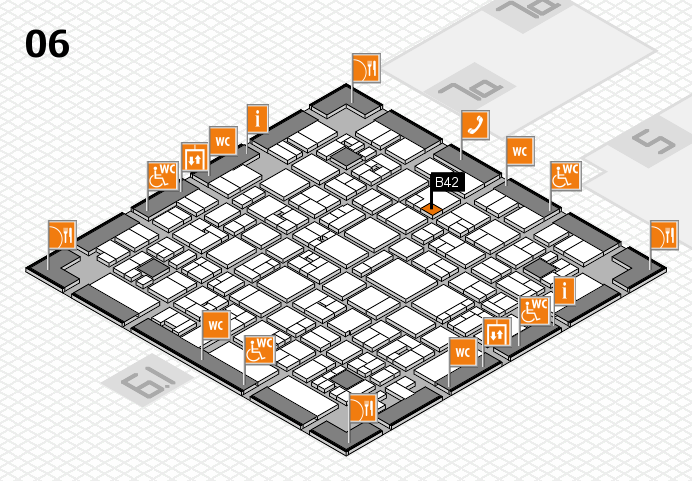 EuroShop 2017 hall map (Hall 6): stand B42