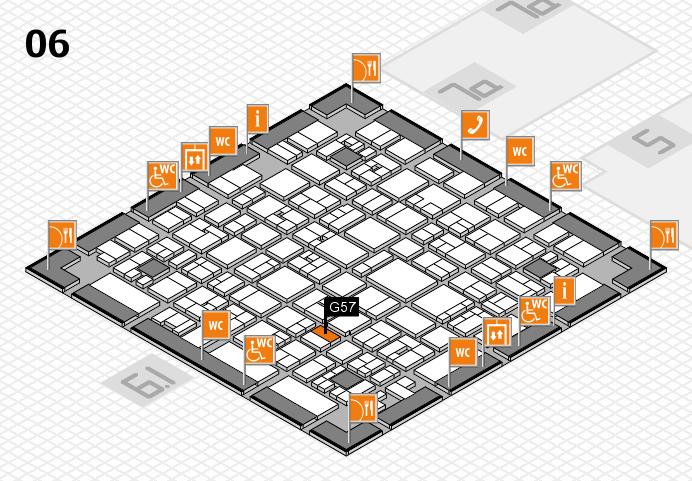 EuroShop 2017 hall map (Hall 6): stand G57