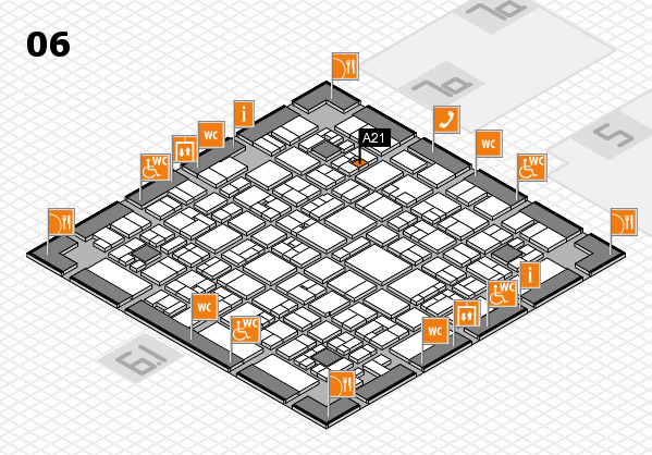 EuroShop 2017 hall map (Hall 6): stand A21
