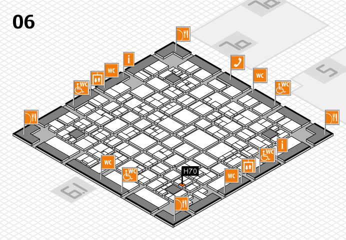 EuroShop 2017 hall map (Hall 6): stand H70