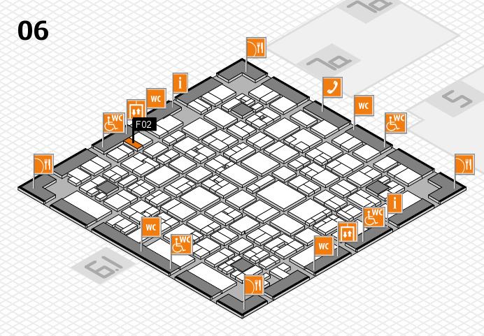 EuroShop 2017 hall map (Hall 6): stand F02