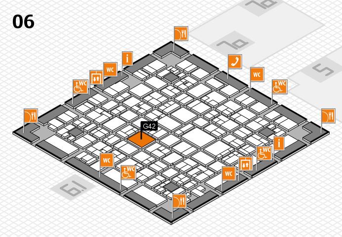EuroShop 2017 hall map (Hall 6): stand G42