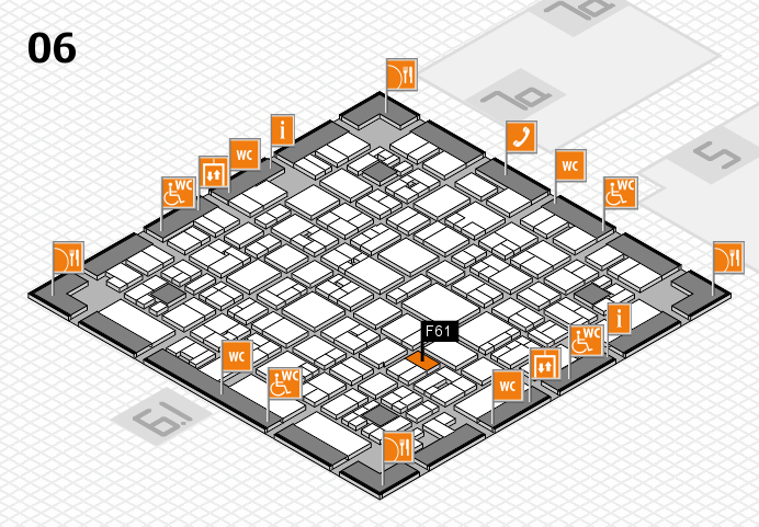 EuroShop 2017 hall map (Hall 6): stand F61