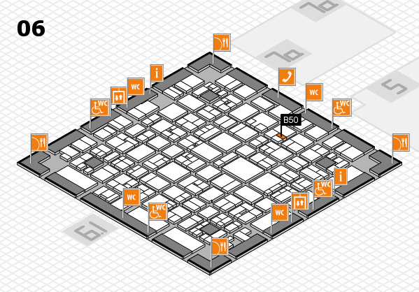 EuroShop 2017 hall map (Hall 6): stand B50
