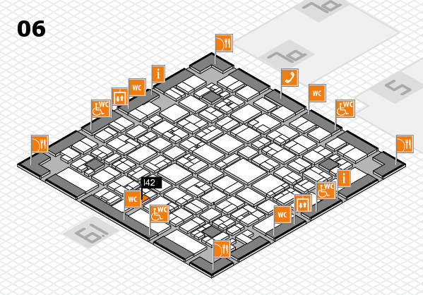 EuroShop 2017 hall map (Hall 6): stand I42
