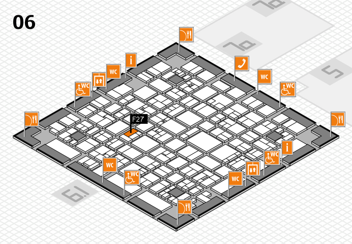 EuroShop 2017 hall map (Hall 6): stand F27