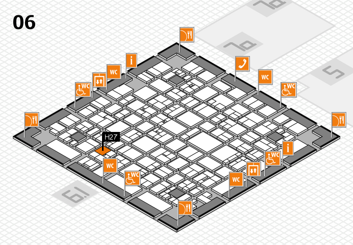 EuroShop 2017 hall map (Hall 6): stand H27