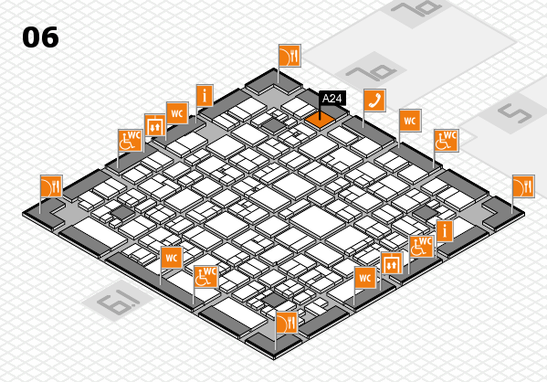 EuroShop 2017 hall map (Hall 6): stand A24