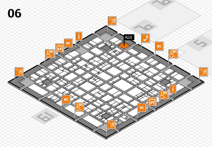 EuroShop 2017 hall map (Hall 6): stand A24