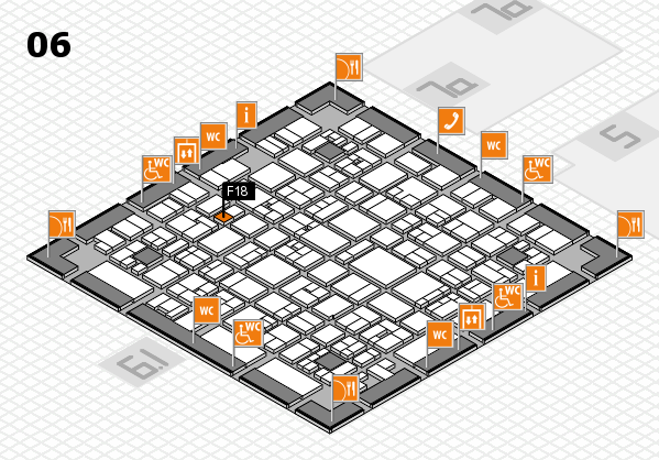 EuroShop 2017 hall map (Hall 6): stand F18