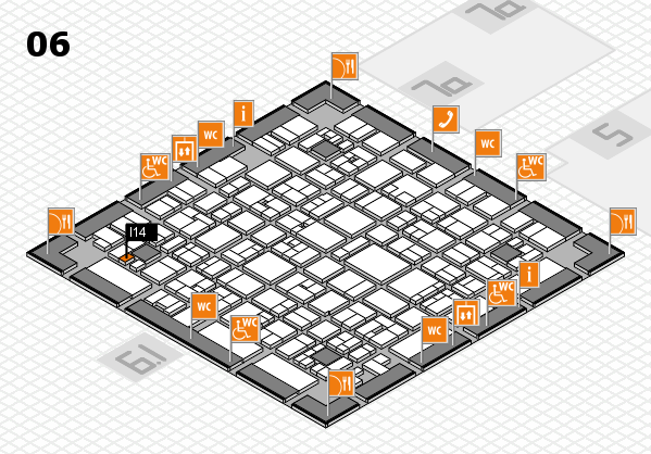 EuroShop 2017 hall map (Hall 6): stand I14