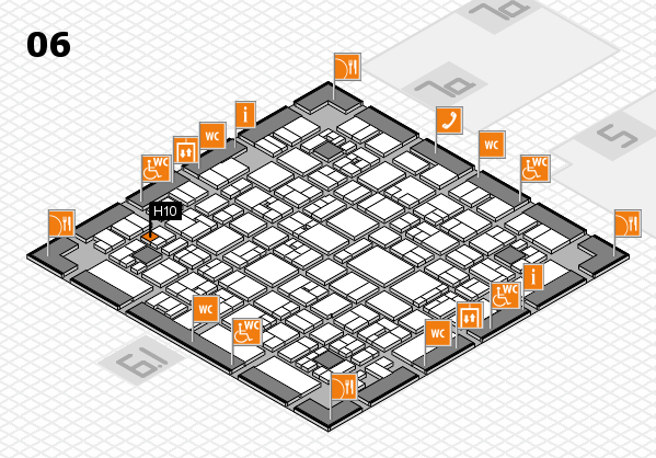 EuroShop 2017 hall map (Hall 6): stand H10