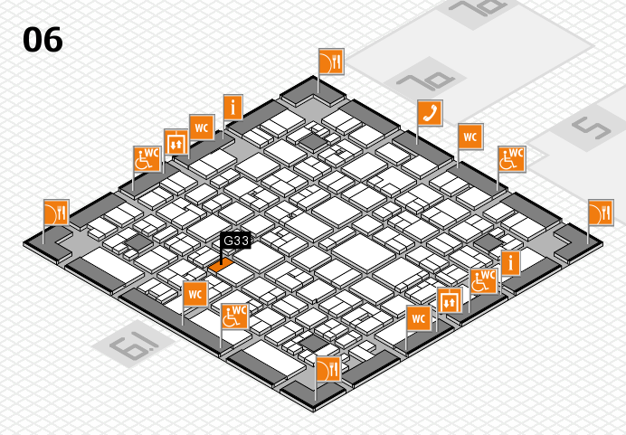 EuroShop 2017 hall map (Hall 6): stand G33