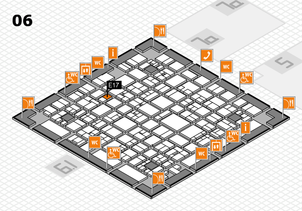 EuroShop 2017 hall map (Hall 6): stand E17