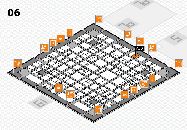 EuroShop 2017 hall map (Hall 6): stand A50