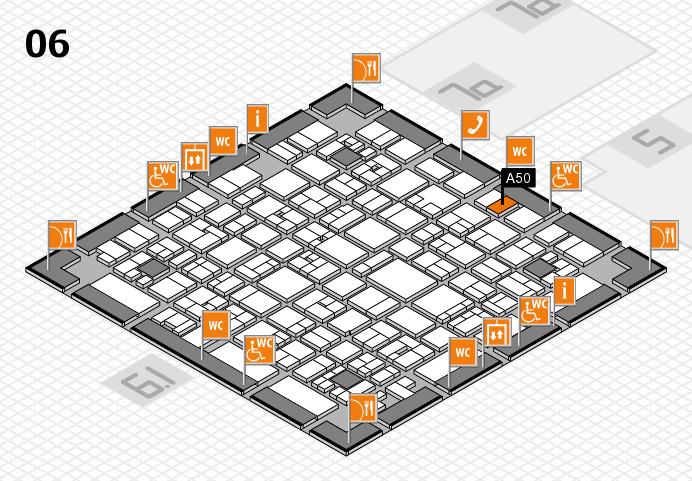 EuroShop 2017 hall map (Hall 6): stand A50