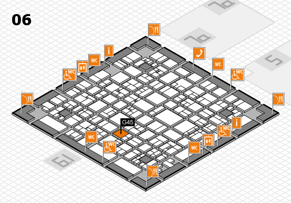 EuroShop 2017 hall map (Hall 6): stand G45