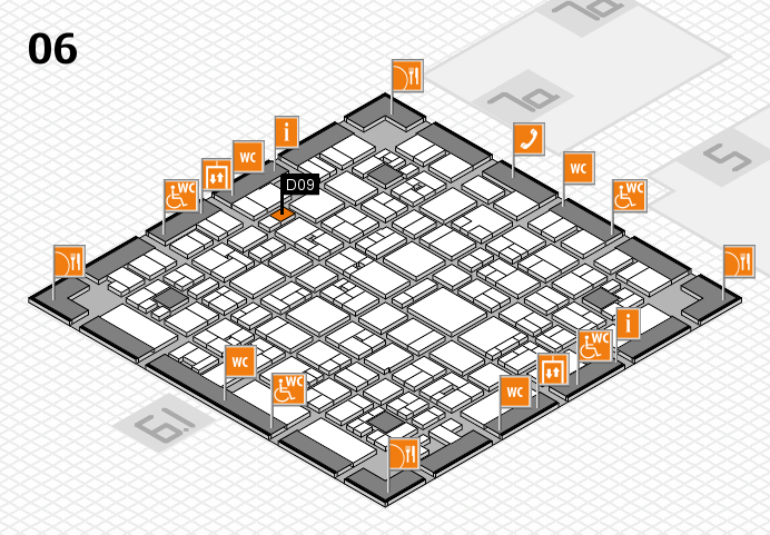 EuroShop 2017 hall map (Hall 6): stand D09