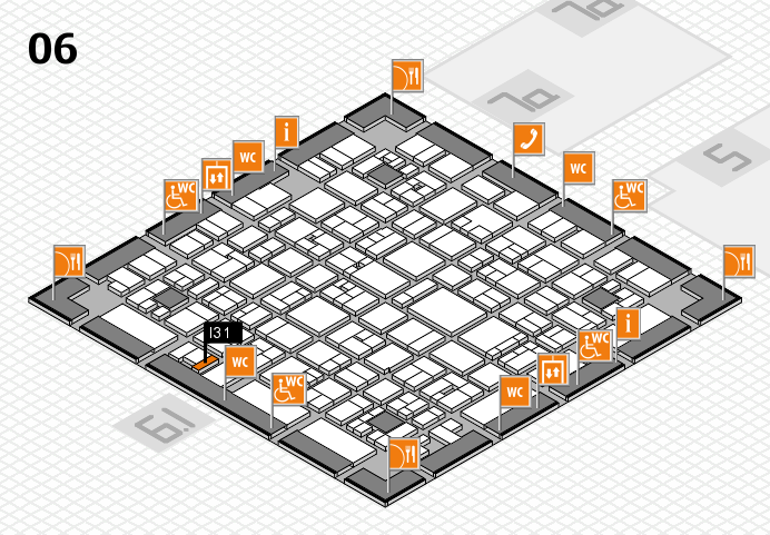 EuroShop 2017 hall map (Hall 6): stand I31