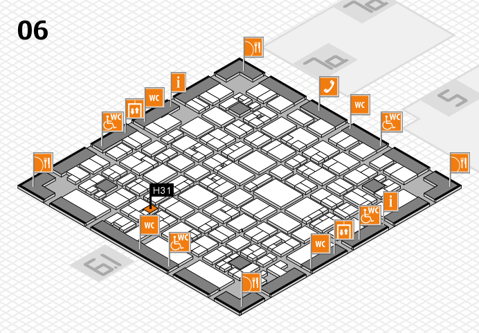 EuroShop 2017 hall map (Hall 6): stand H31