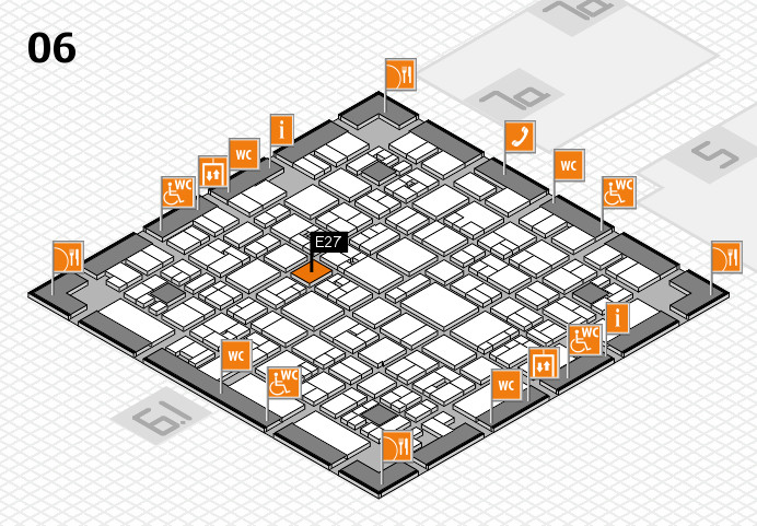 EuroShop 2017 hall map (Hall 6): stand E27