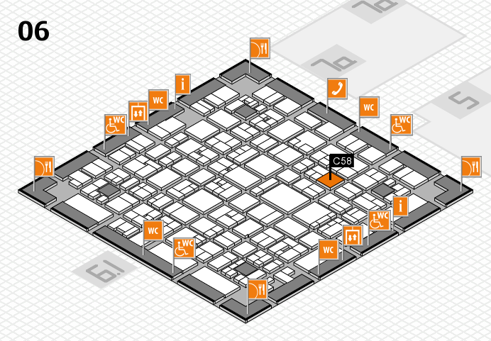 EuroShop 2017 hall map (Hall 6): stand C58