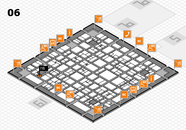 EuroShop 2017 hall map (Hall 6): stand I18