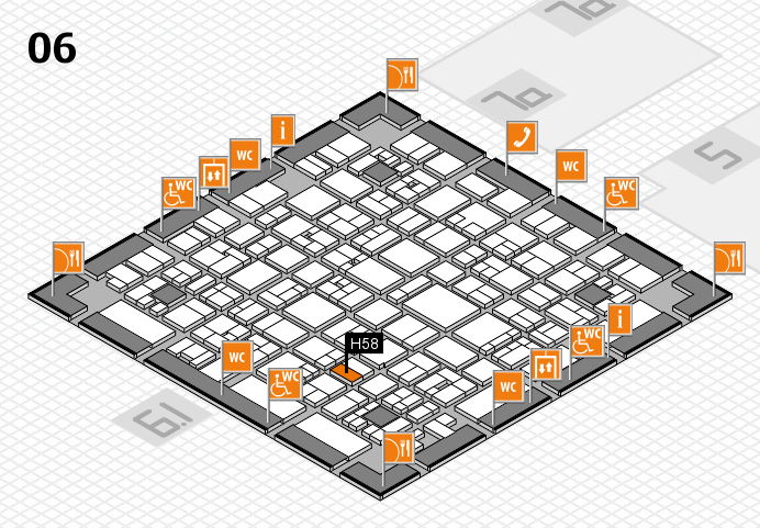 EuroShop 2017 hall map (Hall 6): stand H58