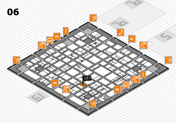 EuroShop 2017 hall map (Hall 6): stand G57