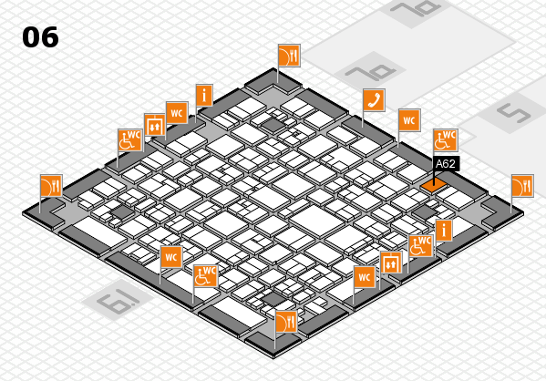 EuroShop 2017 hall map (Hall 6): stand A62