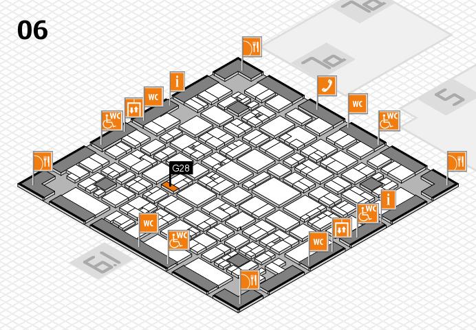 EuroShop 2017 hall map (Hall 6): stand G28
