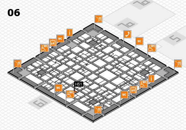 EuroShop 2017 hall map (Hall 6): stand H51