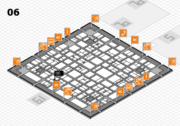 EuroShop 2017 hall map (Hall 6): stand I30