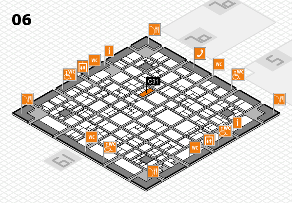 EuroShop 2017 hall map (Hall 6): stand C31