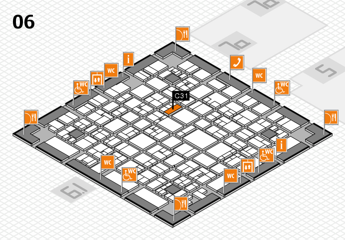EuroShop 2017 hall map (Hall 6): stand C31
