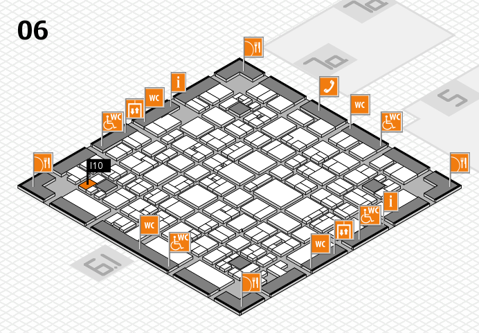 EuroShop 2017 hall map (Hall 6): stand I10