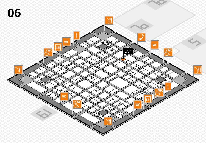 EuroShop 2017 hall map (Hall 6): stand B34
