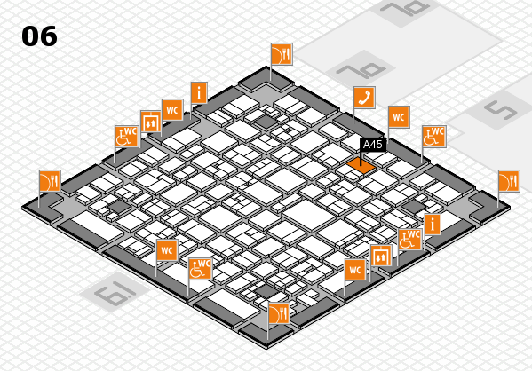 EuroShop 2017 hall map (Hall 6): stand A45