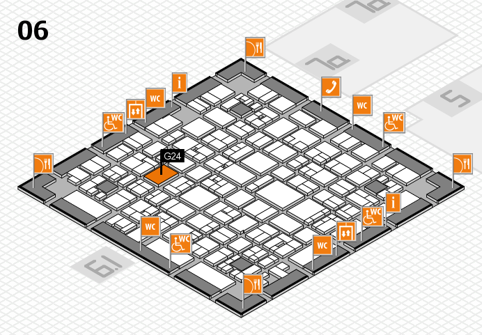 EuroShop 2017 hall map (Hall 6): stand G24
