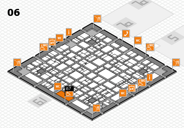 EuroShop 2017 hall map (Hall 6): stand I57