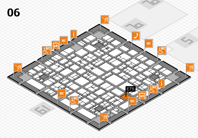 EuroShop 2017 hall map (Hall 6): stand E75