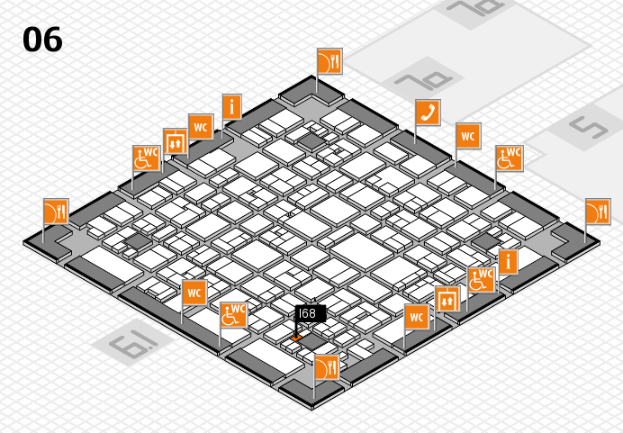 EuroShop 2017 hall map (Hall 6): stand I68