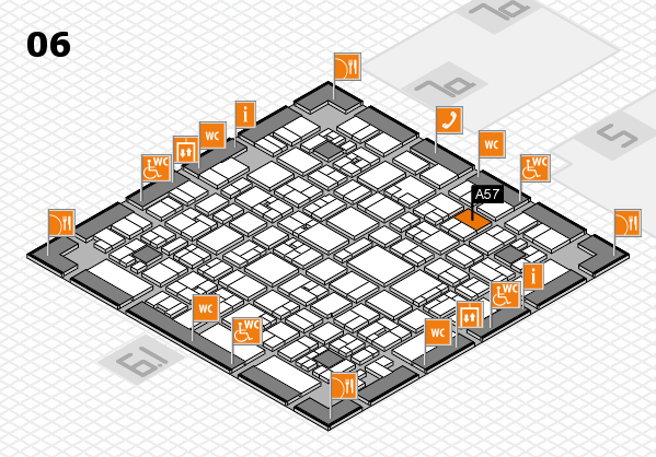 EuroShop 2017 hall map (Hall 6): stand A57