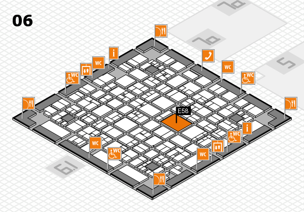 EuroShop 2017 hall map (Hall 6): stand E58