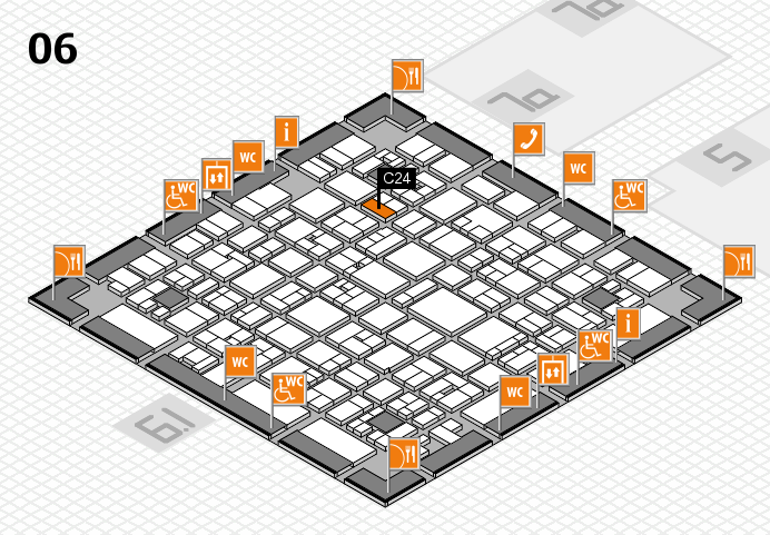 EuroShop 2017 hall map (Hall 6): stand C24