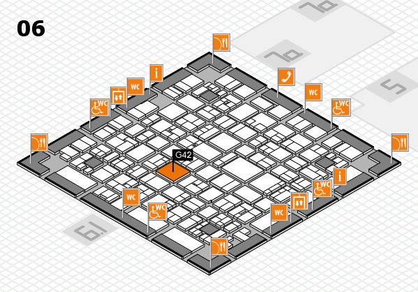 EuroShop 2017 hall map (Hall 6): stand G42